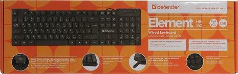 Клавиатура Defender Element HB-190 USB RU Black USB