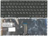 Клавиатура для ноутбука Lenovo B470, G470, V470, Z470, черная, рамка черная (25-01509062)